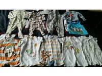 Newborn and 0 - 3 months baby bundle boys clothes