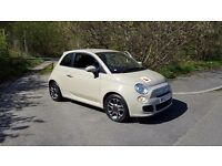 Fiat 500 Sports Edition in Beige. LCD-display and stylish half leather interior. Perfect first car!