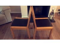 Set of 4 Solid Oak Dining Table Chairs - RRP £250 a pair!