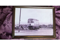 London old red routemaster bus west belfast 1970s quality framed photo print sign 3 images