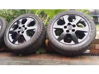 16 inch Vauxhall ASTRA VECTRA ZAFIRA ALLOYS WITH GOOD TYRES 5 STUD 5 × 110