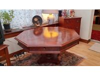 Walnut Occasional table - Octagonal with Drawers - excellent condition.