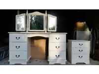 Dressing Table and 2 bedside chests
