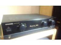 Legendary Pioneer A400 Amplifier, Nice condition. MM and MC phono inputs for turntable.