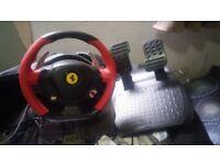 Ferrari 458 Italia Xbox One Steering Wheel with pedals
