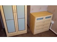 Excellent double wardrobe with chest of drawers