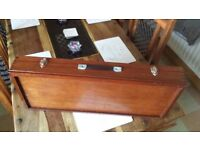Quality Vintage Mahogany Gun Case Beautifully Fitted Interior Superb Case