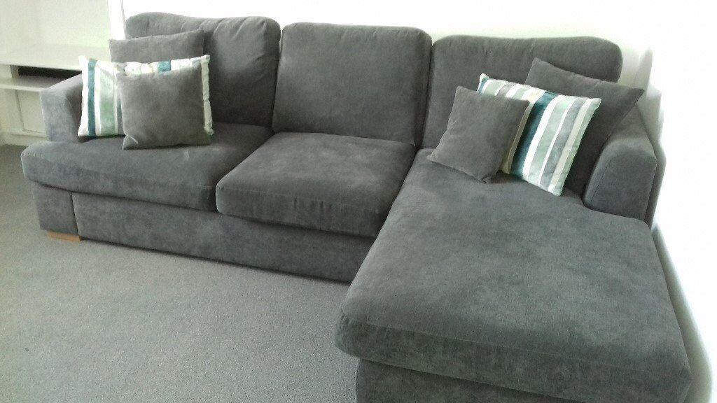 Ex Dfs Freya L Shaped Sofa In Aberdeen Gumtree