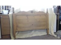 Quality waxed Hamilton Pine headboard