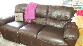 3 Seater Brown Sofa Electric Recliner from HARVEYS