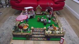 Unique garden in 1:12 scale for dolls house collector with lights, music and movement
