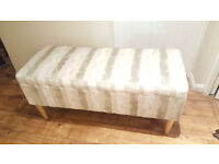 John Lewis Lynden Storage Bench Ottoman Trunk Box | Hinged Lid | RRP £500 |