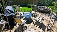 Patio Furniture table with 4 chairs for only $125