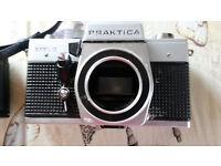 Praktica Cameras no lenses x2. Ricoh KR10 Super and Osram AF282 Studio.