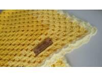"26"" x 26"" handmade baby crochet blanket"