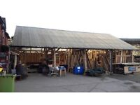MASSIVE Wooden Timber Frame Ark Barn Shed for sale. View now, collect / deliver 5th Feb