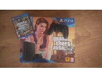 PS4 Slim 500GB Console - Black + GTA V - LIKE NEW