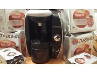 Bosch Tassimo coffee machine plus coffee pods - great condition barely used