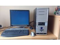 Intellect ProDesk A64/2800s PC with Floppy Drive, wireless mouse/keyboard - needs hard drive