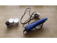 Heat gun for card making crafts embossing powders included