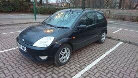Black 1.4L Petrol Ford Fiesta - 2004 Reg - 3 Door - 99k Miles - £600.