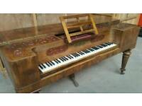Antique Rosewood Piano. Reception desk.
