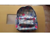 Roxy Backpack Schoolbag - Ax Leaf Dots Heritage combo.