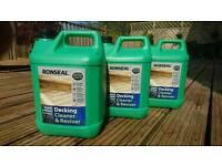 Three 5l bottles or Ronseal decking Reviver Cleaner