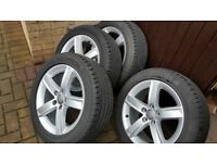 """Audi a4 b8 wheels and tyres 17"""" genuine 5x112"""
