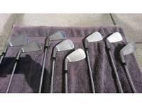 Wilson Staff C19 set of irons, bag & raincover Inc - second hand