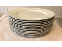 12 beautiful Dudson fine China dinner plates. 12.5 inches , used once