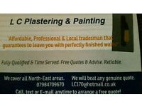 Plasterer/Painter Top Quality Work NorthEast