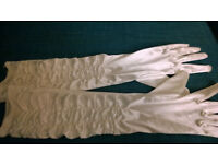 smooth white gloves (fancy dress)