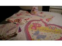 Disney princess curtains bedspread light shade and floor mat