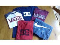 Teenage boy boys tshirt/ shirts bundle