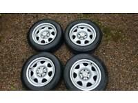 """Mercedes SLK alloy wheels and tyres x 4 15"""" 205/60 R15"""