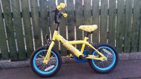 "14"" kids minion bike"