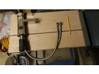 GLANZHAUS Modern Single Handle Single Hole Chrome Basin Bathroom Sink Tap
