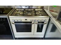 JLRC918 Range Cooker. Dual Fuel Gas Hobs with 2 Electric Ovens Used Once