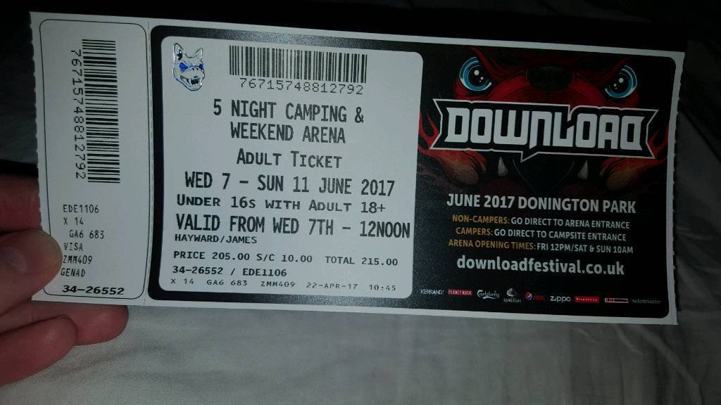 Tickets for download festival