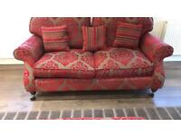 Two sofas, accent chairs and storage footstool