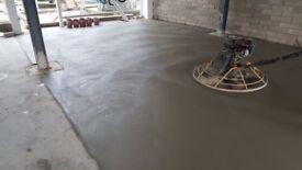 Concrete floor layer