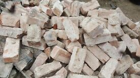 Reclaimed red brick house renovation rubble block imperial pile free diy garden wall land fill