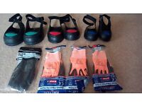 4x safety gloves & 3x safety overshoes