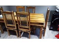 Dining table 6 chairs