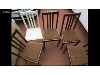 Set of Antique hardwood chairs.