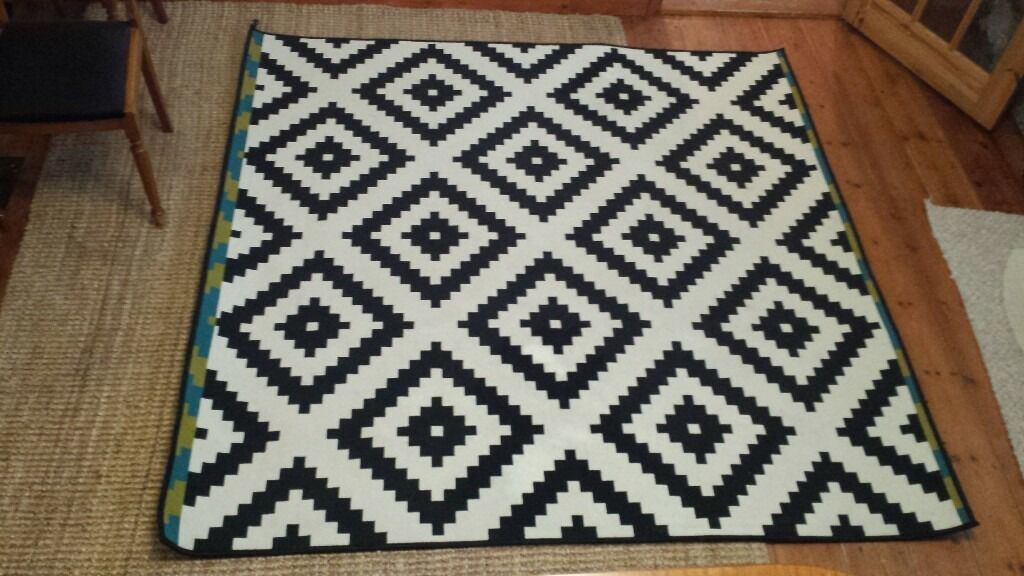 ikea black and white rug in poole dorset gumtree. Black Bedroom Furniture Sets. Home Design Ideas