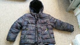 Boys M&S heavy winter coat. Age 5-6