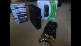 REDUCED FOR QUICK SALE ***Xbox 360 bundle includes Kinect, 20 Games, controllers £180 or near offer