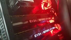 Dual EVGA GTX 1080ti FTW3 Gaming PC